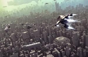 Infinity MMO Cityscape by KopeKope