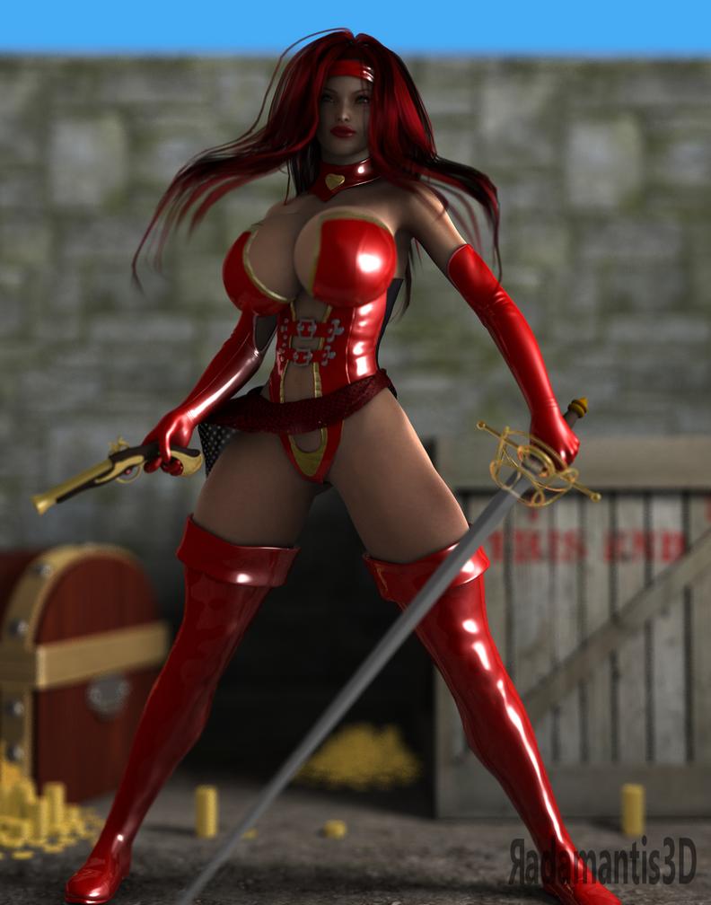 Red Monika by Radamantis3d