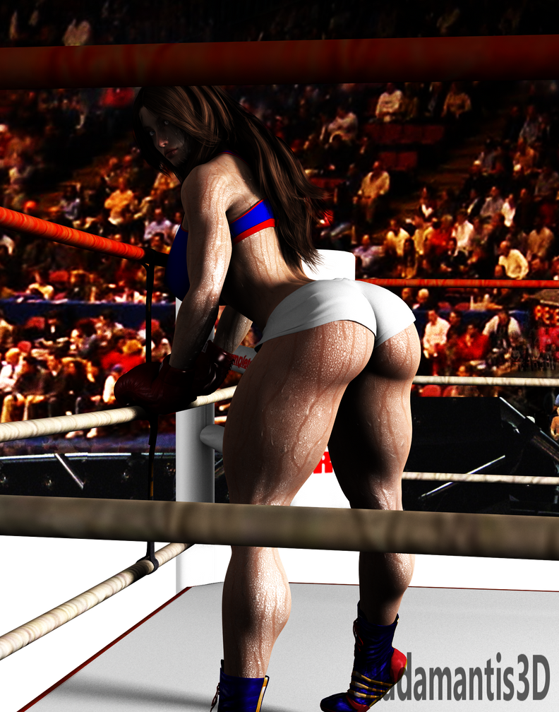 Boxing Girl by Radamantis3d