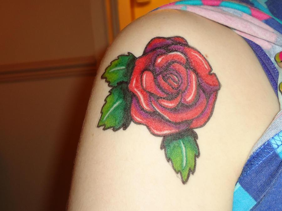 Rose Sharpie Tattoo By Metal Petey Flower On DeviantArt