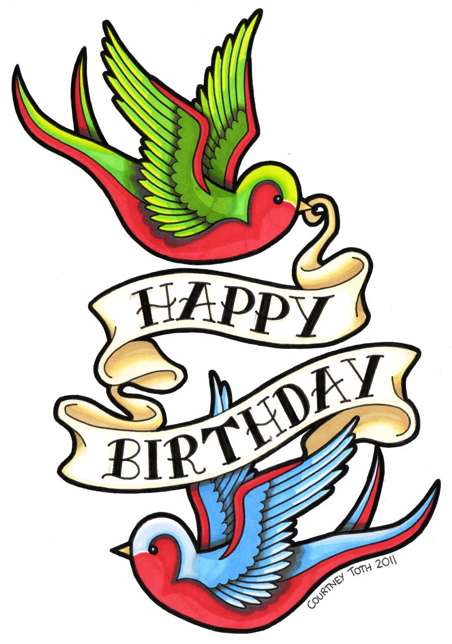 swallows birthday card by metalpeteyflower on deviantart, Birthday card