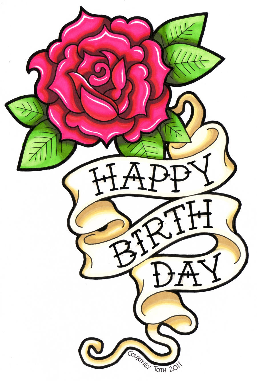 Pink rose birthday card by metal petey flower on deviantart pink rose birthday card by metal petey flower izmirmasajfo Image collections