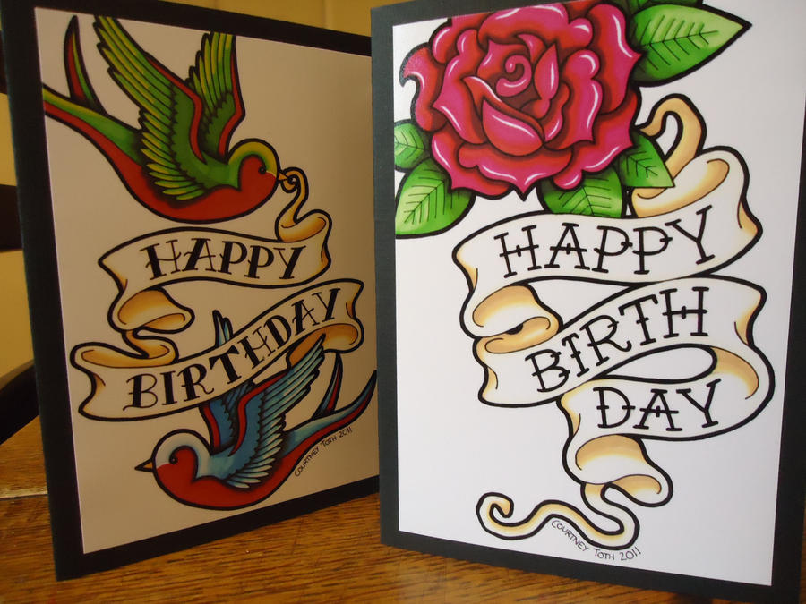 deviantart more like tattoo birthday card finals by metalpetey, Birthday card