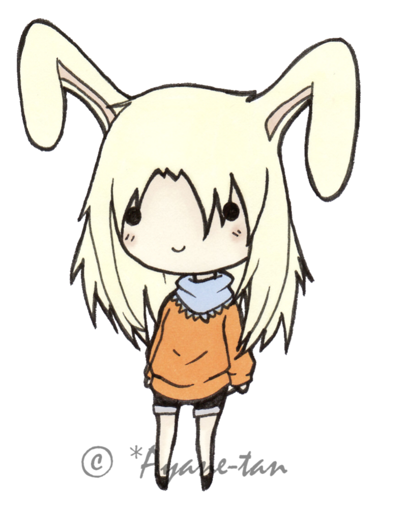 how to draw a chibi bunny girl
