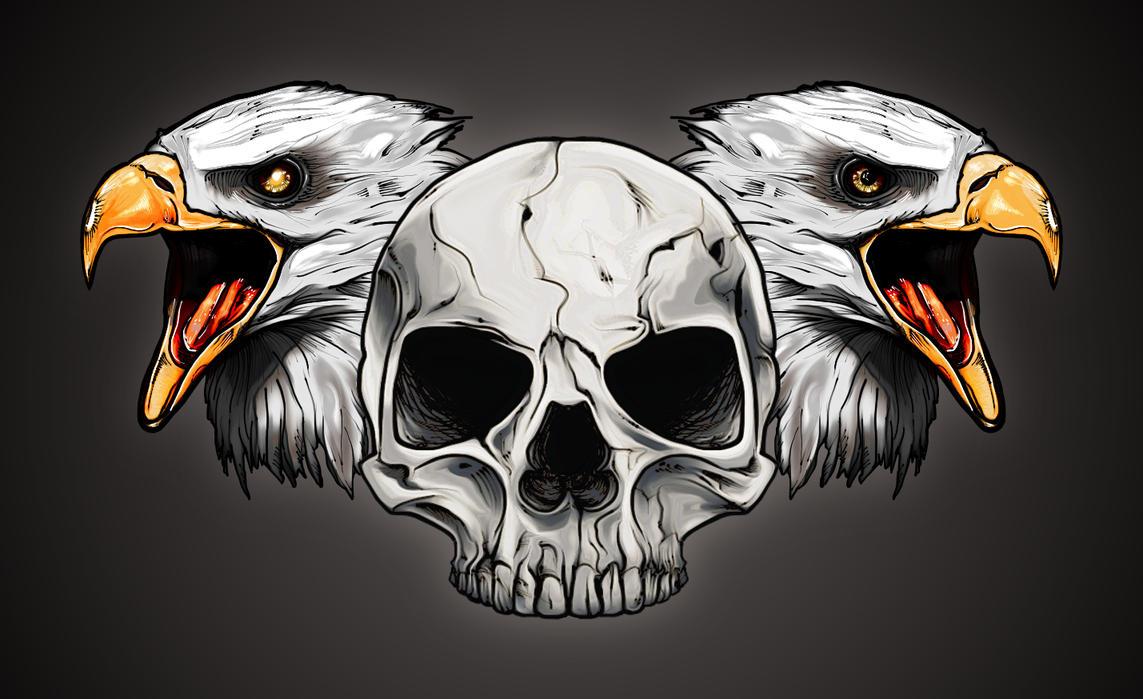 Eagles'n'skull by Cisoun