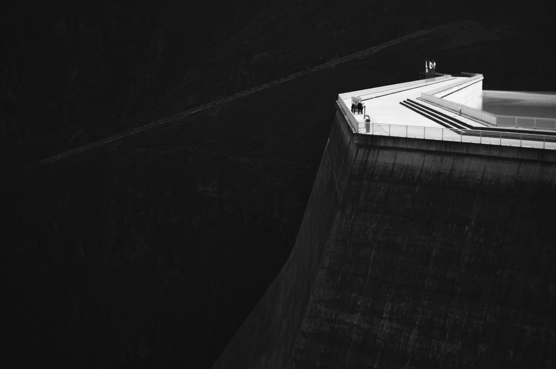 The Top of the Grande Dixence Dam by Cisoun