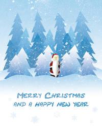 Santa Christmas Card by Mottsei