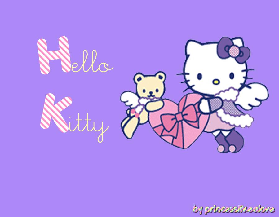 Hello Kitty Purple Wallpaper By Princesslikealove On Deviantart