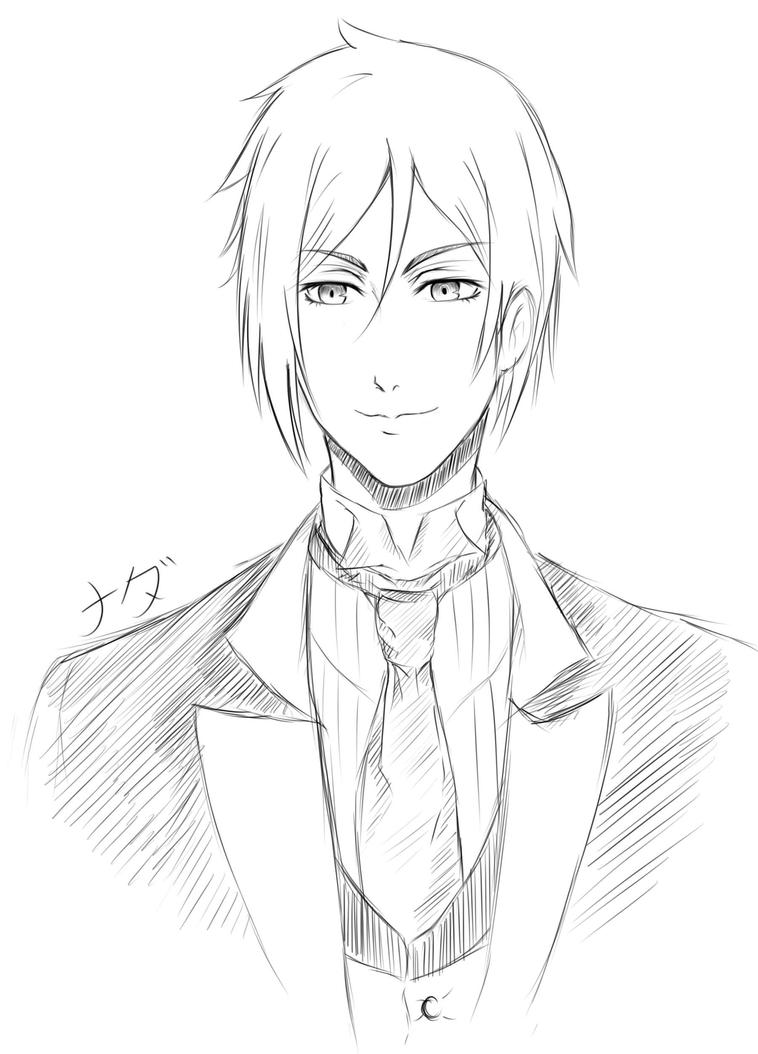 sebastian black butler coloring pages www pixshark com images galleries with a bite Gothic Anime Coloring Pages  Black Butler Sebastian Coloring Pages