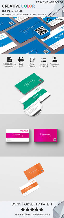 Creative Color Business Card