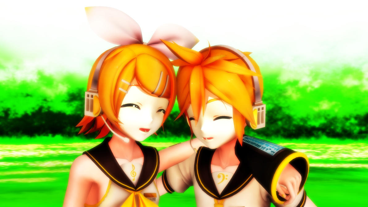 [MMD] Rin and Len Kagamine by kingdomvocaloid2