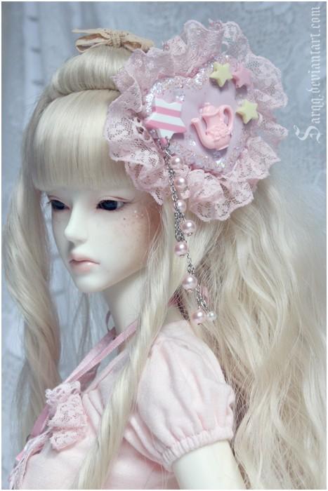 Sugar Heart Teapot Headdress by Sarqq