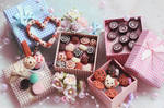 Cernit sweets for dolls :)