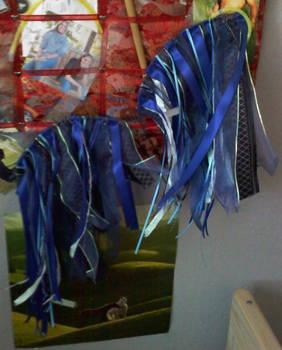 Blue Wings on Wall