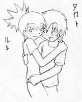 Rukato: Just a hug? by an-angels-tears