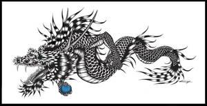 Black and White Dragon