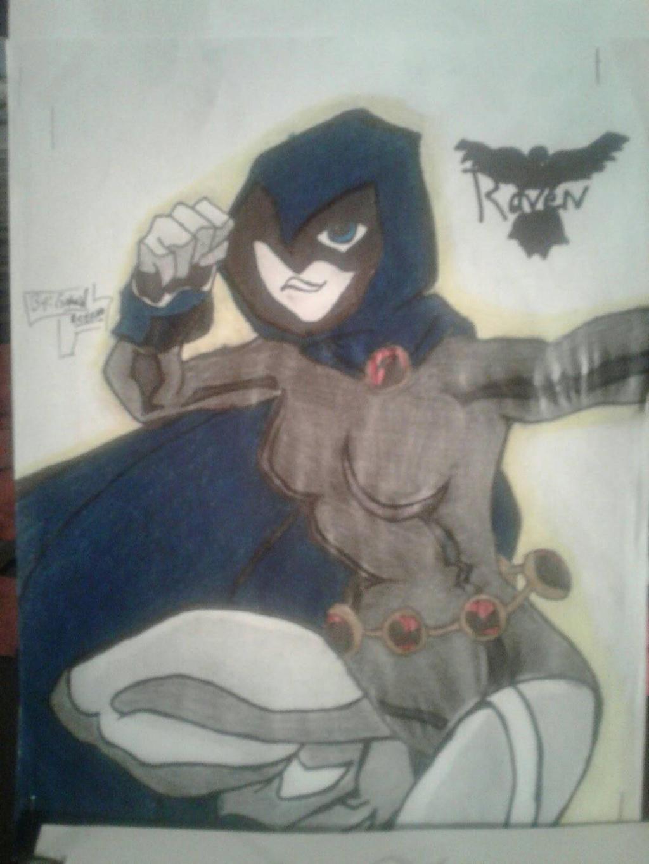 raven teen titans by gabrielsart89