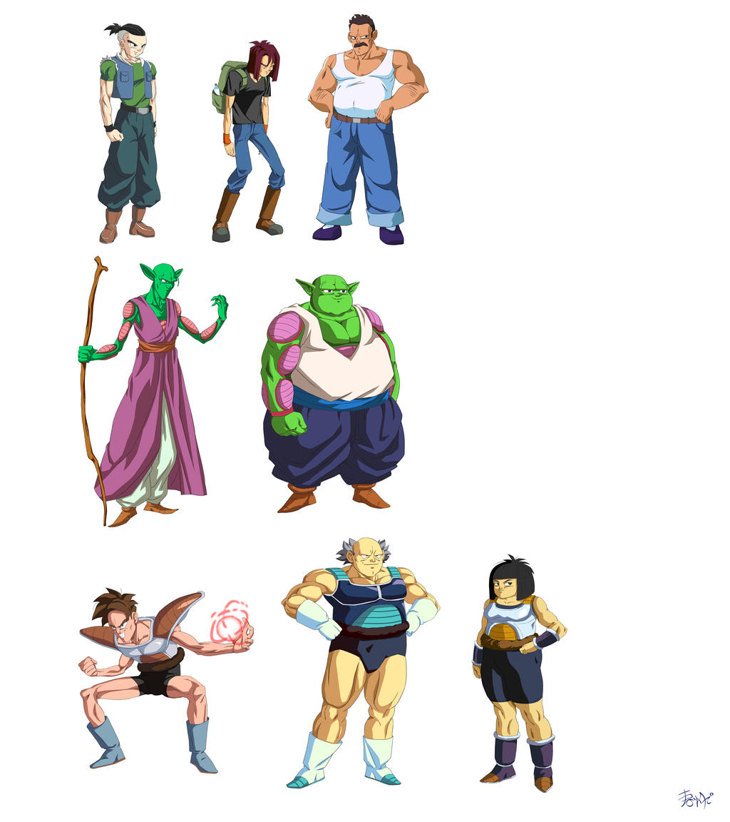Character Design Dragon Ball Z : Dbz character designs set by phantomstudio tommy on
