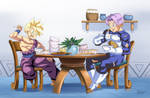 :Comission-Lunchtime/GohanXTrunks by PhantomStudio-Tommy