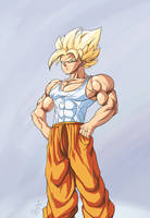 :commission/ Goku super saiyan by PhantomStudio-Tommy