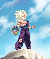 :commission/ Destructive ssj2 Gohan by PhantomStudio-Tommy