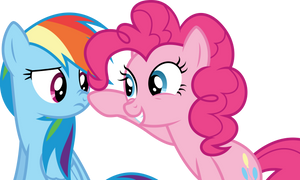 [Vector] Rainbow and Pinkie by DerAtrox