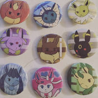 Pokemon Button Set - Eevee
