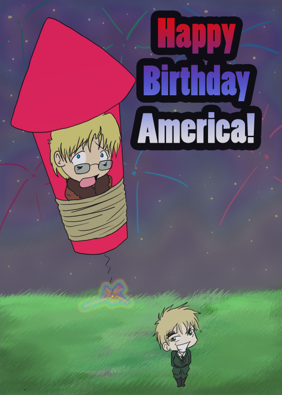 Happy 4th Of July Hetalia By Bleachedkitten On Deviantart