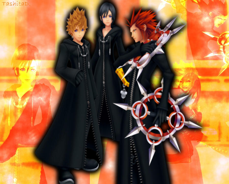 Xion And Roxas And Axel Xion Roxas And Axel by