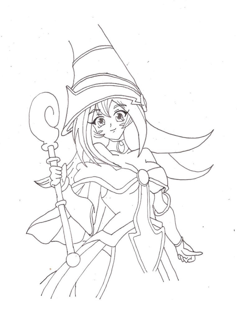 dark magician girl coloring pages - photo#22