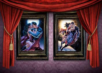 Wonder Woman Superman Real Art by Argeko