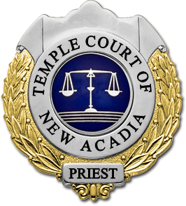New Acadia Temple Court Badge (Silver-gold) by PatronZero