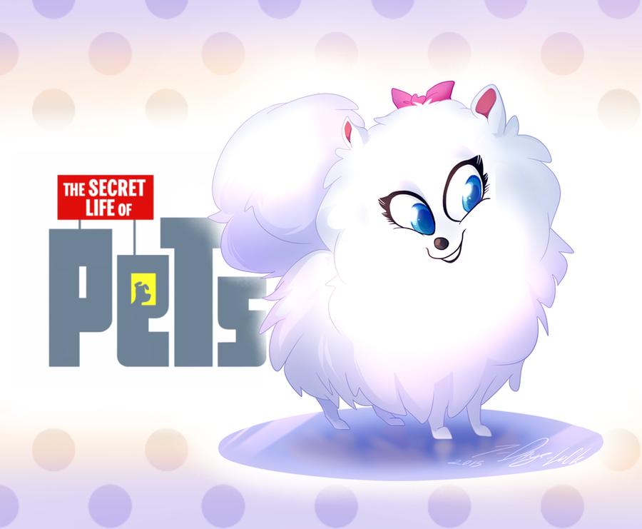 the secret life of pets gidget fanart by 7 days luck