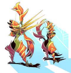 Flower Knights Concept 02 - Heliconia Knight by 7-Days-Luck