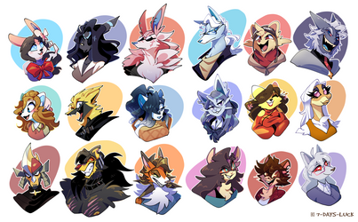 GMG - Character Headshots 01 by 7-Days-Luck