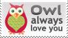 Owl Always Love you Stamp 2 by InspiredInstinct