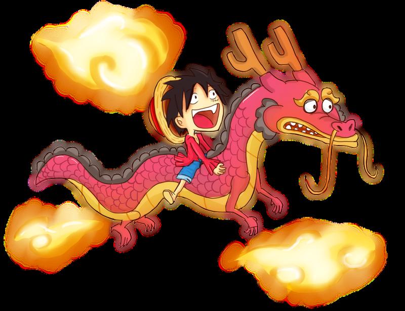 luffy con momonosuke by XNaKaMaX