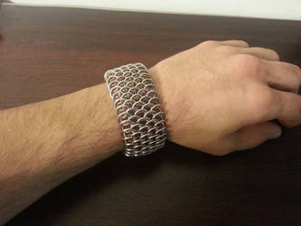 Chainmaille Dragonscale Cuff Lg. by Vkarmoury