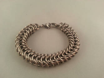 Box weave chainmaille bracelet by Vkarmoury