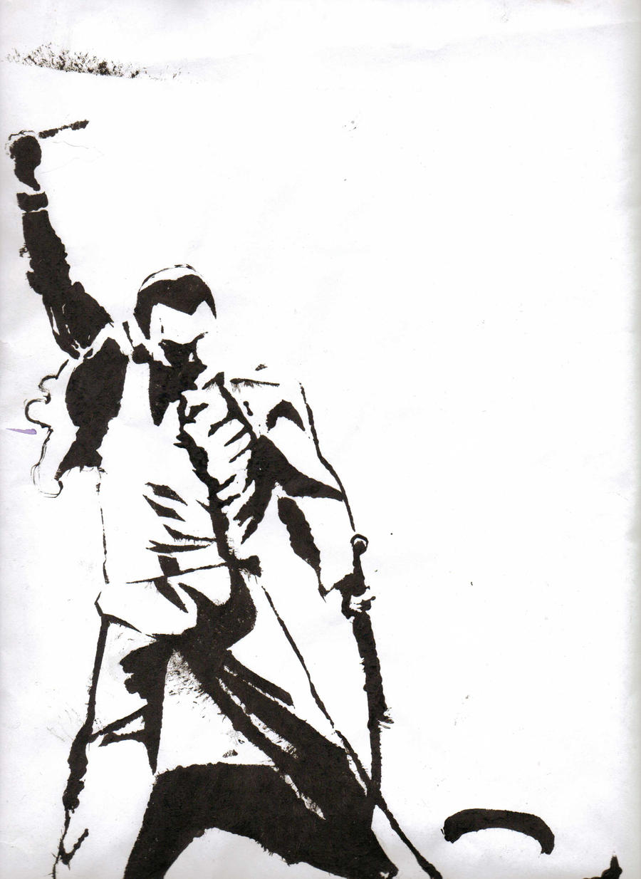 freddy mercury stencil proof by timburton9965 on deviantart