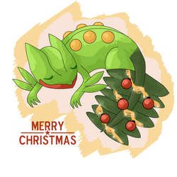 Christmas Sceptile by JirachiLegend