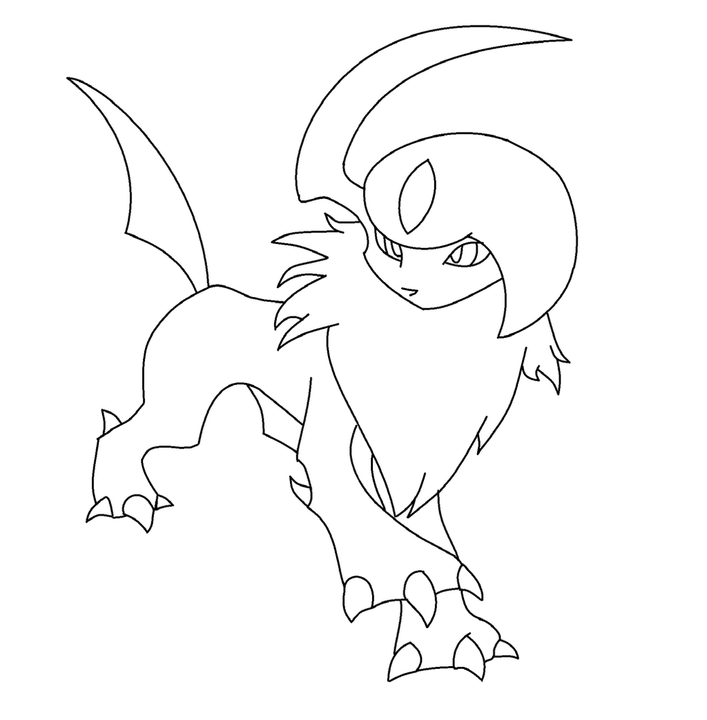 coloring pages absol - photo#24