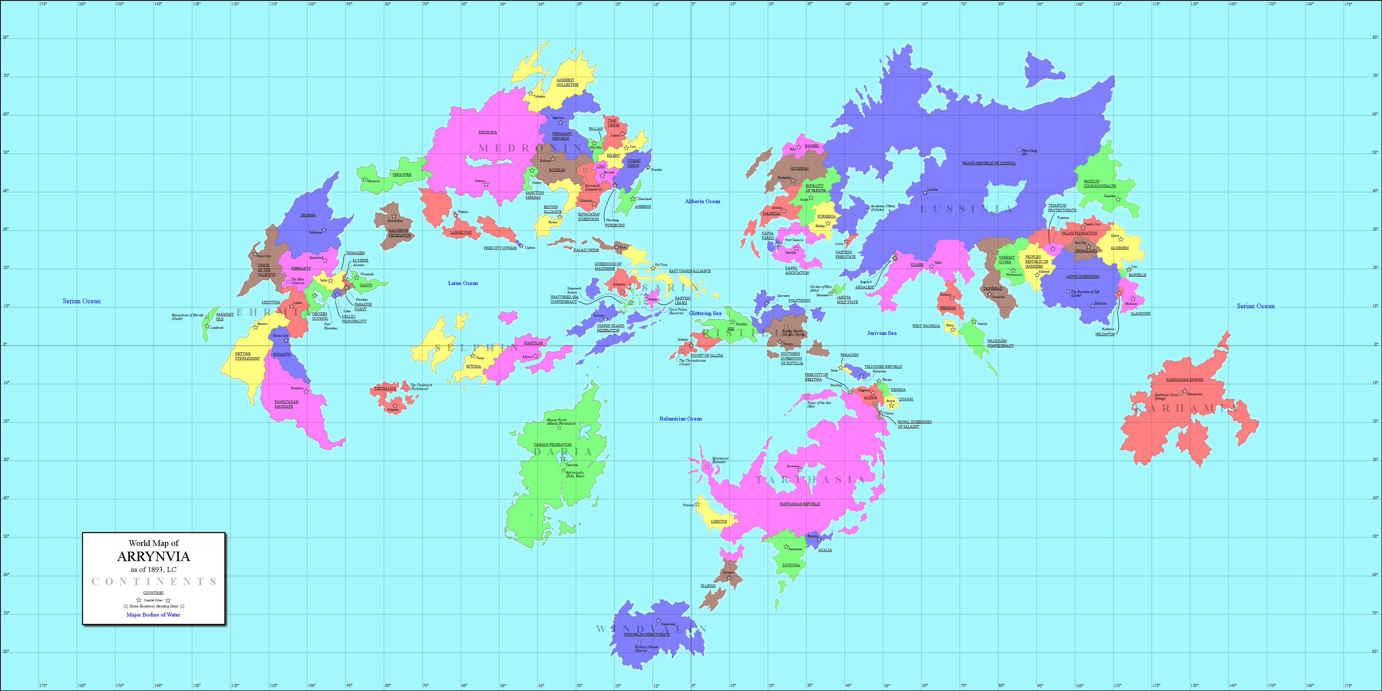 World map of eriond by arsheesh on deviantart rnva world map by hamstercorp sciox Images