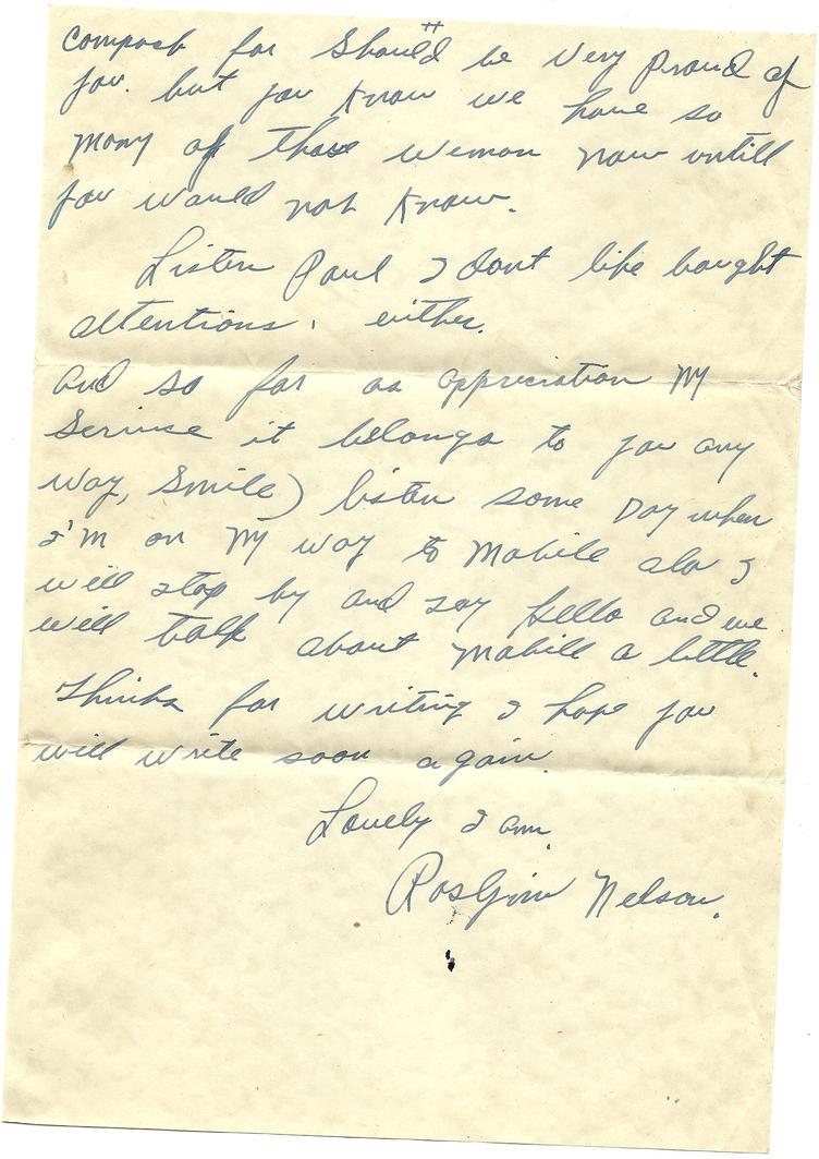Example Evacuee Letters