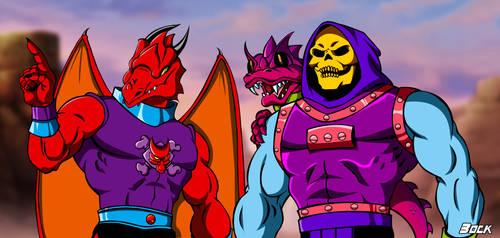 Draego-Man and Skeletor Dragon Blaster