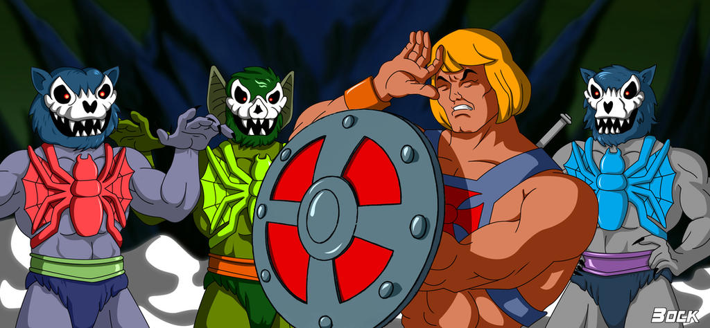 Three Terrors vs He-Man by MikeBock