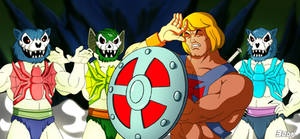 Three Terrors vs He-Man glowing