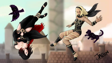 Gravity Rush - Kat and Raven