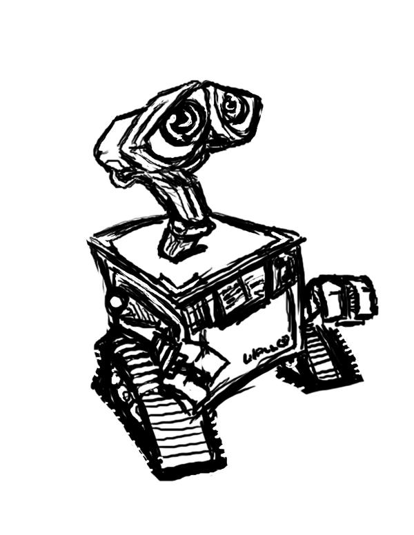 Wall-E line art by danidipps