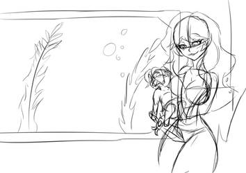 Aurora Lee and Baby Maximo Sketch by Anvitzi